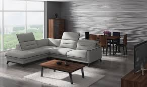 Corner Sofa In Living Room by Stylized Retro Corner Sofa
