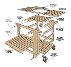 patio serving cart woodsmith plans