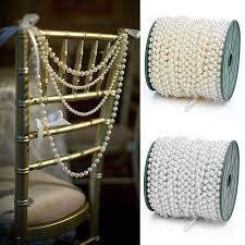 diy chair sashes 10m 8mm party table centerpieces plastic string pearl twine ivory
