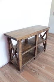 Rustic Pine Desk Rustic Entryway Table Made From Just 5 Boards Of 2x6s And 3 4 Inch