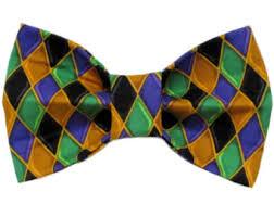 mardi gras tie mardi gras bow tie etsy