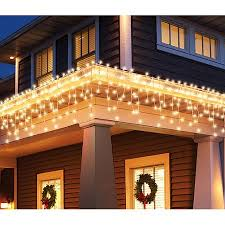 holiday time christmas lights holiday time 300 count blinking icicle christmas lights clear