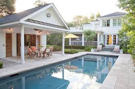 Backyard Rooms Ideas Outdoors Backyard Decor With Small Modern Pool House And Unique