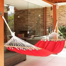 novica crocheted fringe spreader bar cotton tree hammock wayfair