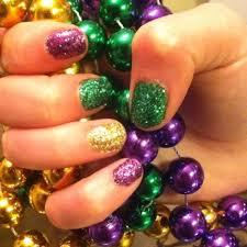 mardi gras nail solid sparkles 31 fantastic mardi gras nail ideas