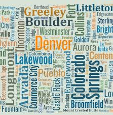 Map Art Colorado Typography Map