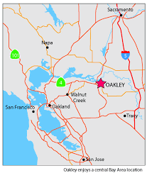Oakland Ca Map Our Location City Of Oakley
