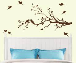 tree branch with 10 birds wall decal deco art sticker mural in tree branch with 10 birds wall decal deco art sticker mural in