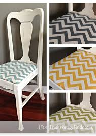 painted table with chevron chairs farm fresh vintage finds