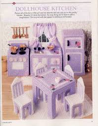 plastic canvas miniature doll house kitchen furniture pattern