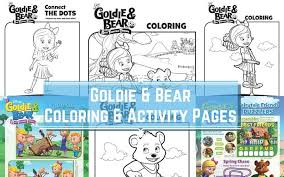 Disney Junior Goldie And Bear Coloring Pages Activity Sheets Disney Junior Coloring Sheets And Activity Sheets