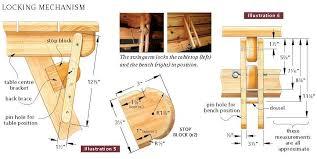 Folding Picnic Table To Bench Folding Picnic Table Plans Pdf Brokeasshome Com