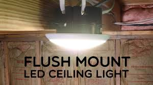 Ceiling Mounted Lights Flush Mount Led Ceiling Light Youtube