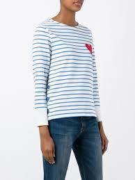 chinti and parker u0027breton u0027 sweatshirt cream ocean women clothing