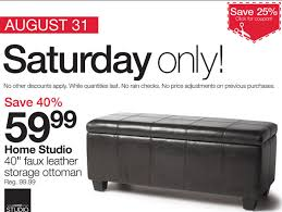 Storage Ottoman Canada Home Outfitters Canada Deals Storage Ottoman 59 99 40