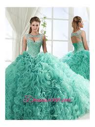 fifteen dresses sweetheart beaded detachable sweet fifteen dresses with rolling flower