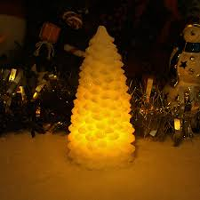 lighted pine tree candle with timer battery