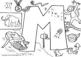 Letter M Colouring Pages M Coloring Pages