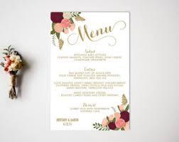 Buffet Menu For Wedding by Wedding Menu Reception Vintage Wedding Decor Reception Menu