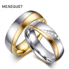 aliexpress buy vnox 2016 new wedding rings for women meaeguet wedding rings for lover gold color stainless