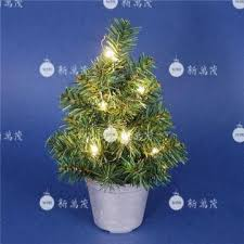 mini christmas tree with lights 12 inch potted pine artificial christmas tree with mini lights