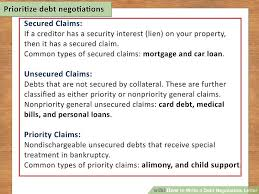 how to write a debt negotiation letter with pictures wikihow
