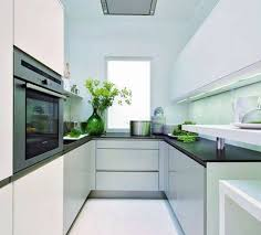 White Galley Kitchens Kitchen Design Magnificent Cool Elegant Small Galley Kitchen
