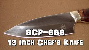 scp 668 13 inch chef u0027s knife object class euclid mind