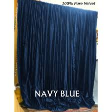 Blue Velvet Curtains Buy Navy Blue Velvet Curtains And Drapes Made From Vintage Cotton