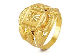 men gold ring maharaja plain mens gold ring pmga 0709 men rings jewellery