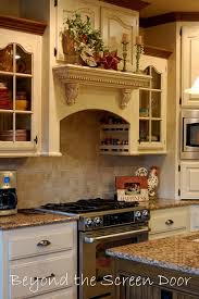 kitchen mantel decorating ideas microwave above stove with raised cabinet above kitchens