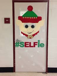 elf christmas door decorating contest bulletin boards