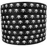 skull ribbon hipgirl printed grosgrain skull ribbon 5 yard 7 8