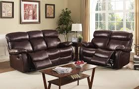 2 piece living room set dante collection leather 2 piece dark brown living room set