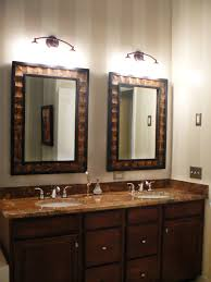 framed bathroom mirror ideas bathroom carved silver framed mirror with chrome tone for
