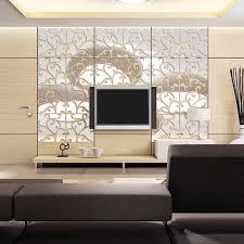 mirror decals home decor 32pcs diy 3d acrylic modern mirror decal mural wall sticker home
