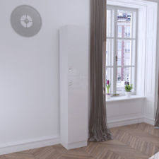 modern white high gloss germania inside shoe cabinet tall slim
