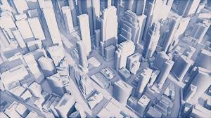 Modern City by Abstract White 3d Scale Model Of Modern City With High Rise