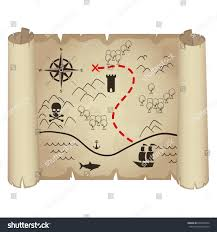 Blank Pirate Map Template by Treasure Map Design Vector Stock Vector 608937044 Shutterstock