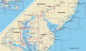 map of maryland delaware and new jersey themapstore chesapeake bay delaware bay and new jersey shore
