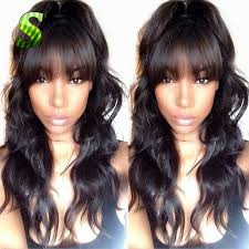 body wave hair with bangs 293 best human wigs images on pinterest baby hairs lace front