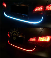 dual color flowing type led light strip car brake turn running