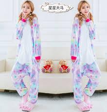 unicorn unisex animal pajamas costume pony