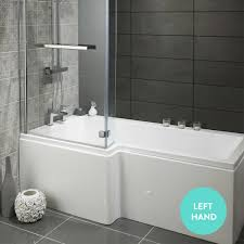 lily heavy duty 1700mm l shaped shower bath with glass screen lily heavy duty 1700mm l shaped shower bath with glass screen front panel lily heavy duty l shower bath drench