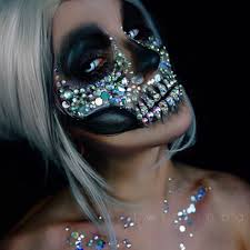 Halloween Makeup Dia De Los Muertos Do This As A Straightforward Glam Skeleton Rather Than A Dia De