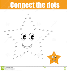 connect the dots children game stock vector image 71363221