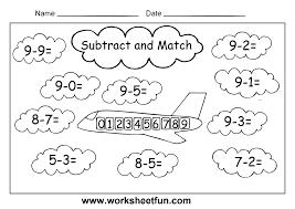 free printable subtraction worksheets for kindergarten worksheets