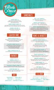 the beach house florida food menu the beach house sandestin