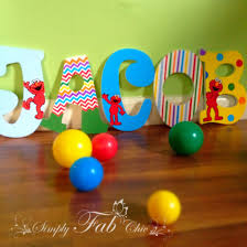 sesame decorations elmo sesame personalized wooden letter for a birthday or