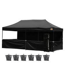 10 X 20 Shade Canopy by Abccanopy 10x20 Deluxe Black Pop Up Canopy Trade Show Both Abccanopy